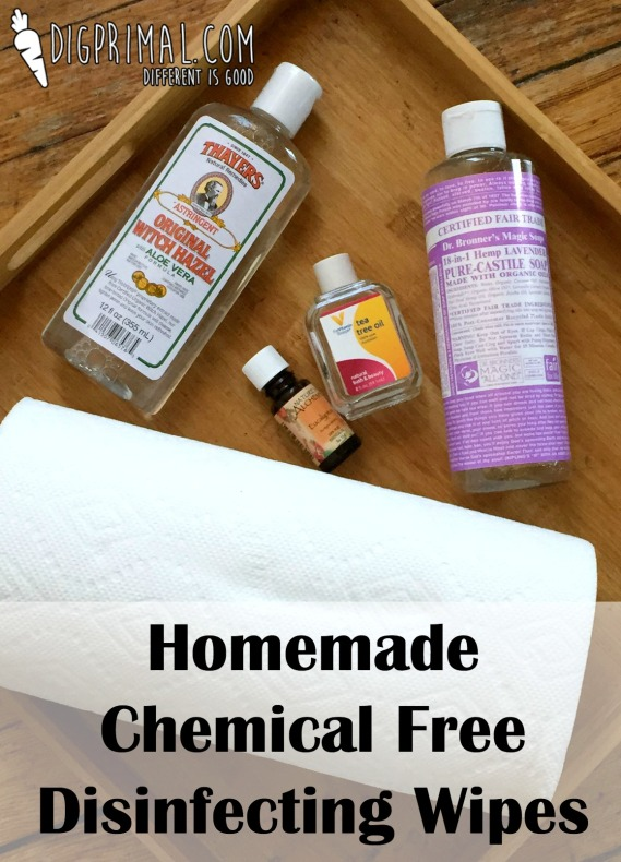 Homemade Chemical Free Disinfecting Wipes