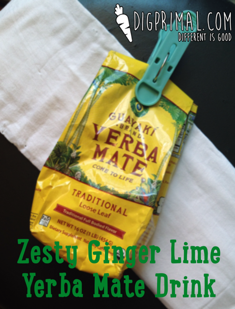 Zesty Ginger Lime Yerba Mate Drink