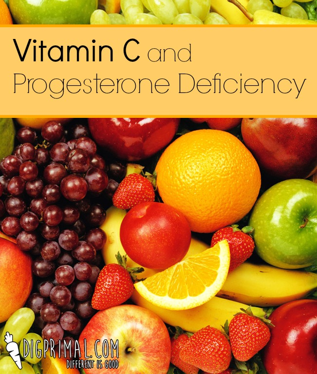Vitamin C and Progesterone Deficiency