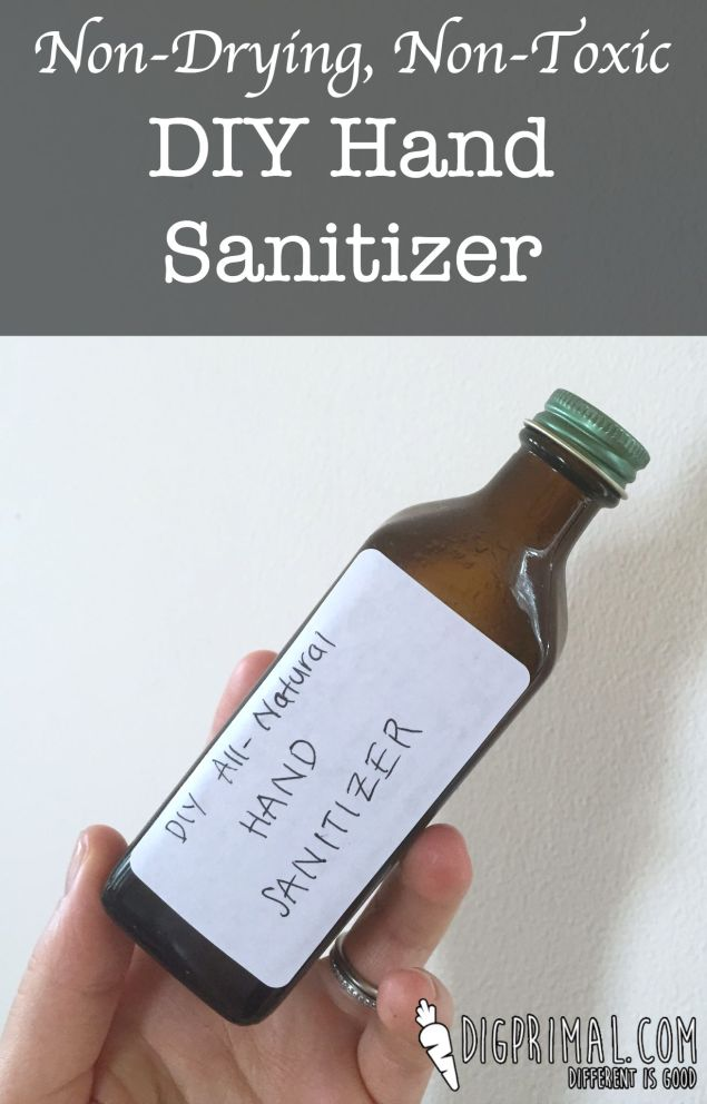 Non-Drying, Non-Toxic DIY Hand Sanitizer