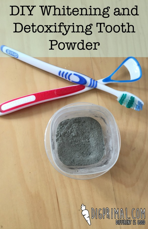 DIY Whitening and Detoxifying Tooth Powder